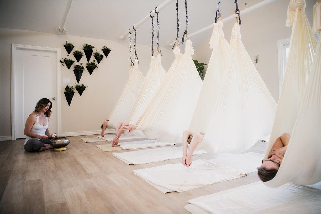 Restorative Aerial Yoga Bobcaygeon Ontario -Sarovara Yoga Ally