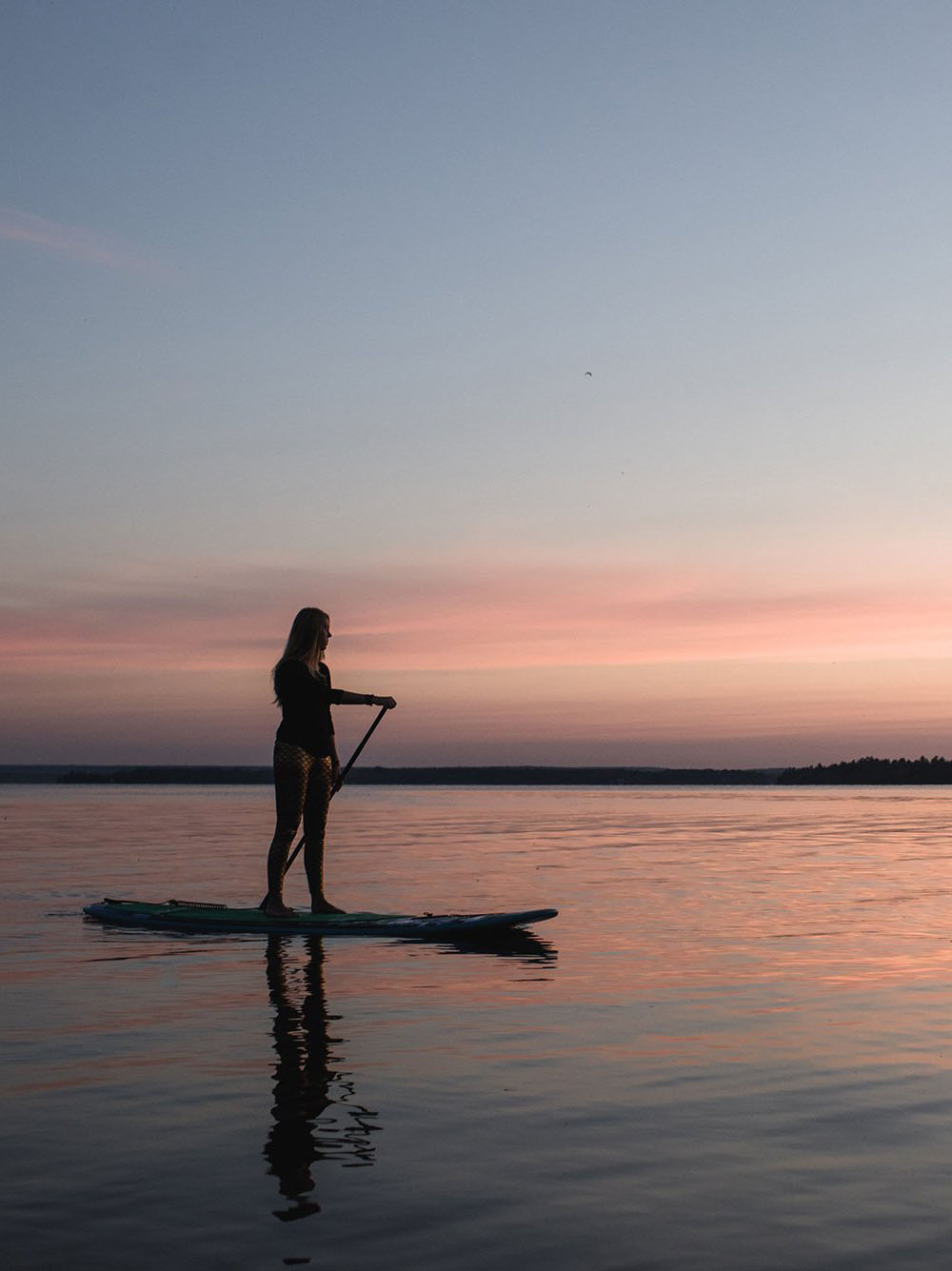 SUP Yoga - Sarovara Yoga Bobcaygeon Ontario - Sunset SUP Photography