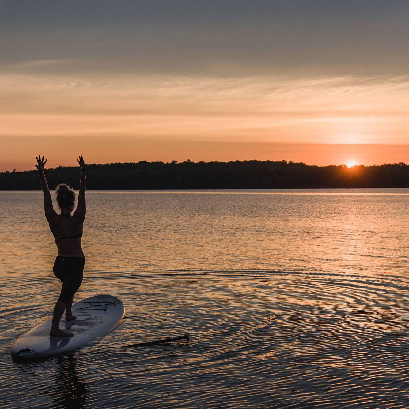 Sunset Stand Up Paddleboard Yoga Bobcaygeon Pigeon Lake