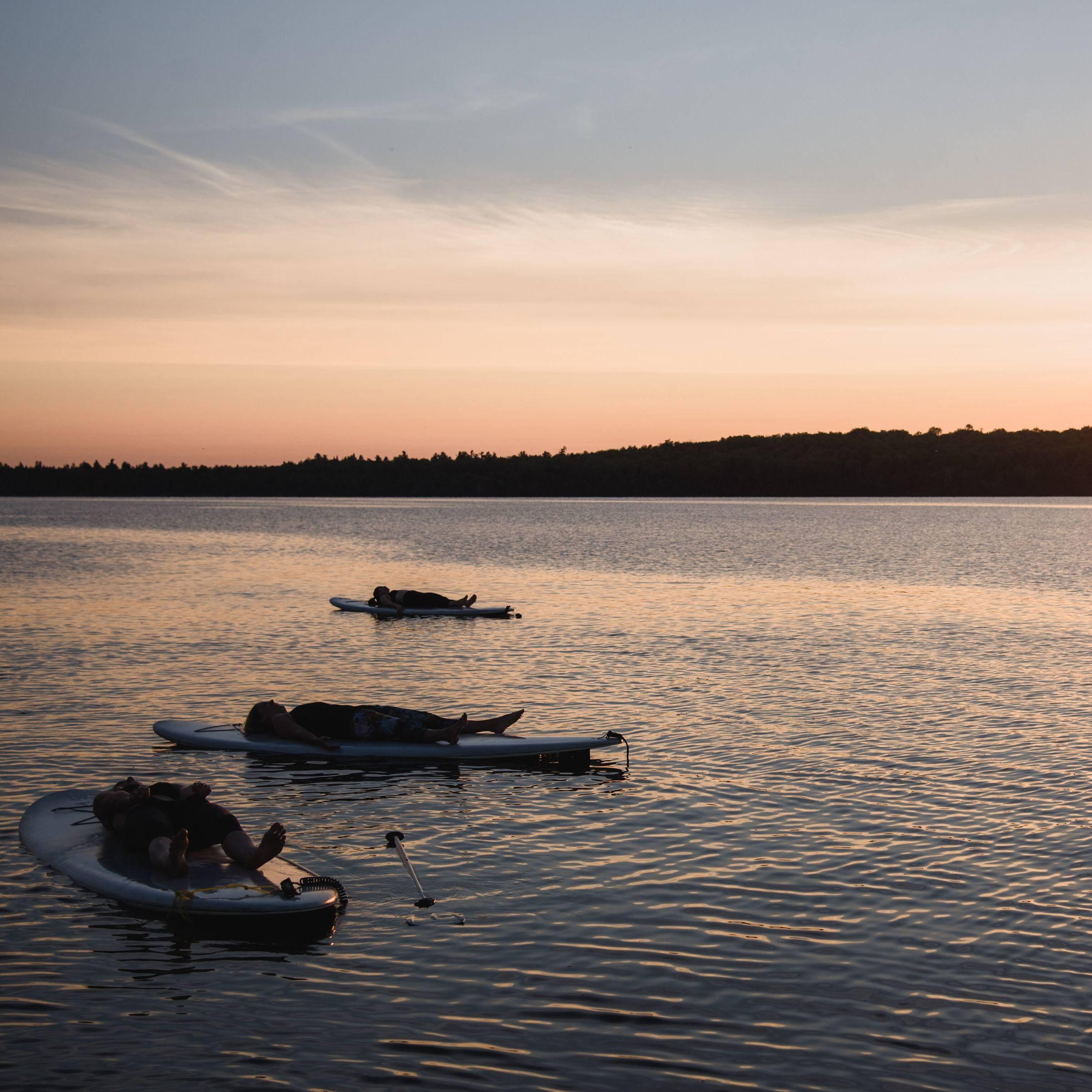 Sunset Savasana SUP Yoga Kawarthas Pigeon Lake - Sarovara Yoga